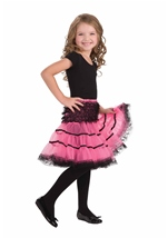 Pink And Black Girl Petticoat