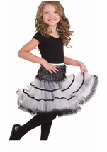 White And Black Girl Petticoat