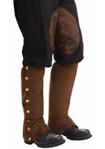 Steampunk Suede Men Spats Brown