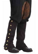 Steampunk Suede Men Spats Black