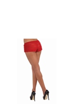 Ruffled Tanga Short Red