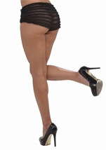 Ruffled Tanga Short Black