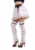 Steampunk Buckled Spat White
