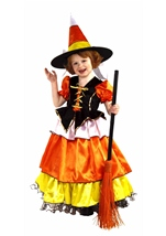 Girls Candy Corn Witch Kids Costume