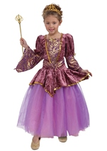 Royal Plum Princess Girls Costume