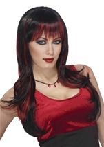 Vicious Gothic Black And Red Women Wig