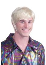 70s Disco Fever Blonde Men Wig