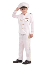 Navy Admiral Boys Deluxe Costume