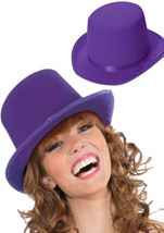 All ages Deluxe Purple Top Hat