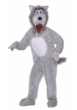 Adult Deluxe Storybook Wolf Mascot Costume