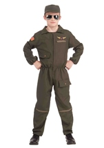 Pilot Jet Fighter Boys Costume