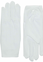 White Snap Closure Adult Glove