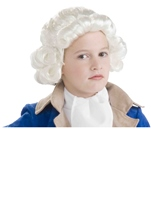 Colonial Child Wig White