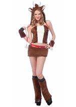 Reindeer Furry Hood Woman Costume