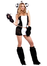 Panda Women Furry Hood Costume