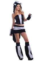 Skunk Women Furry Hood Costume