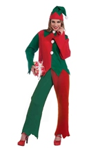 Adult Santas Elf Christmas Costume