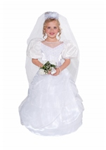Deluxe Girls Wedding Gown Costume
