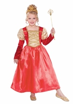 Golden Garnet Princess Girls Costume