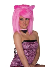 Feline Fantasy Women Hot Pink Wig