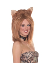 Feline Fantasy Women Brown Wig