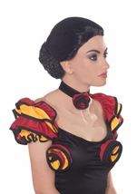 Spanish Dancer Black Wig