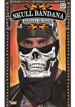 Skull Face Bandana Black