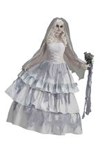 Victorian Ghost Bride Deluxe Ghostly Spirit Costume