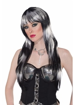 Black And White Vivid Long Women Wig