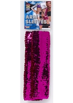 Magenta Sequin Arm Sleeves