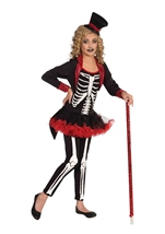Girls Miss Bone Jangles Skeleton Print Deluxe Costume