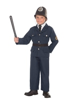 Boys British Bobbie Police Costume