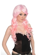 Light Pink Women Wig And Ponies