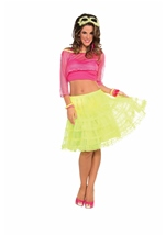 Neon Yellow Underskirt Women