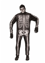 Skeleton Print Men Costume
