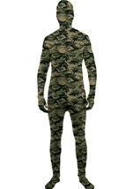 Disappearing Man Camouflage Print Men Bodysuit