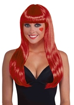 Neon Red Women Long Wig
