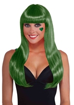 Neon Green Women Long Wig