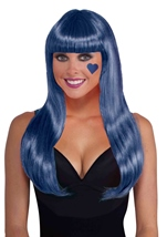 Royal Blue Women Long Wig