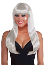 White Long Women Wig