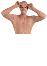Men Invisible Wood Bodysuit With Hooded Mask