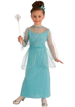 Girls Classic Princess In Blue Costume