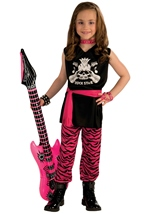 Girls Classic Rock Star 80s Costume