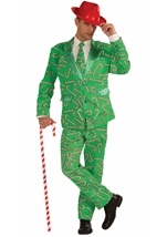 Candy Cane Men Tuxedo Christmas Costume
