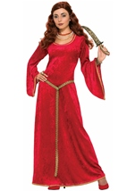 Ruby Sorceress Women Medieval Costume