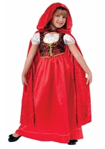 Designer Collection Deluxe Red Riding Hood Girls Costume