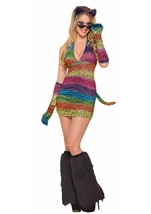 Rainbow Leopard Long Gloves