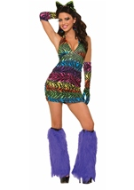 Party Animal Women  Zebra Halter Costume