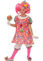 Girls Tickles The Clown Circus Costume