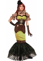 Steampunk Fairytale Siren Woman Costume